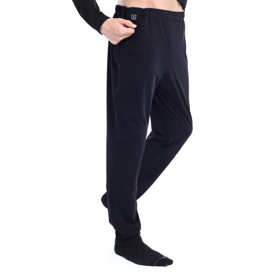 Opvarmede bukser - sort