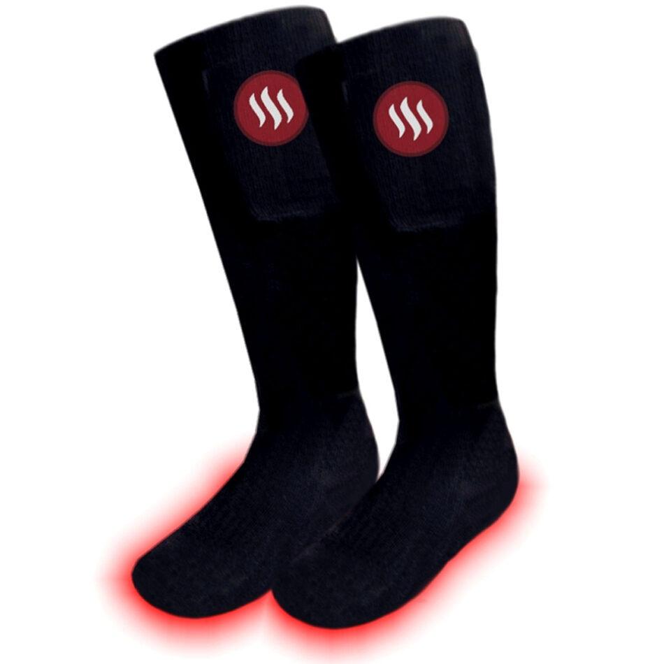 Opvarmede sokker